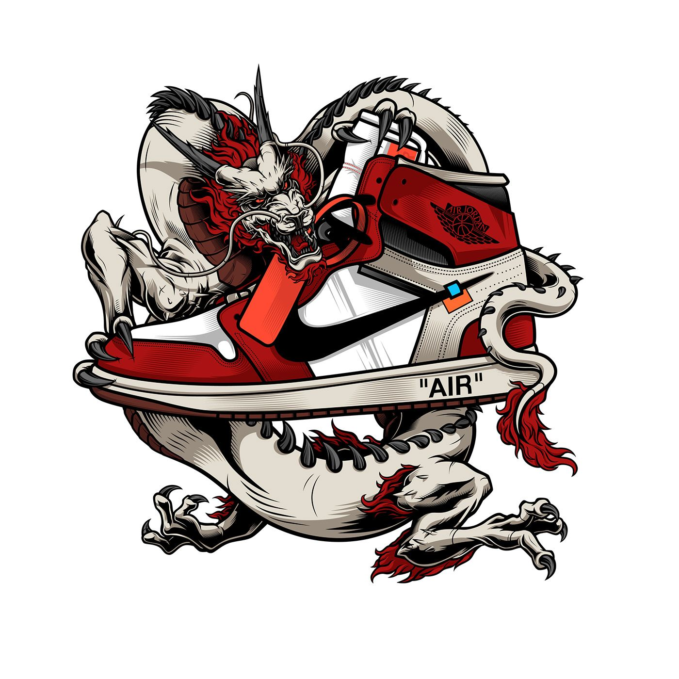Air Jordan 1 Dragon on Behance Personajes de graffiti
