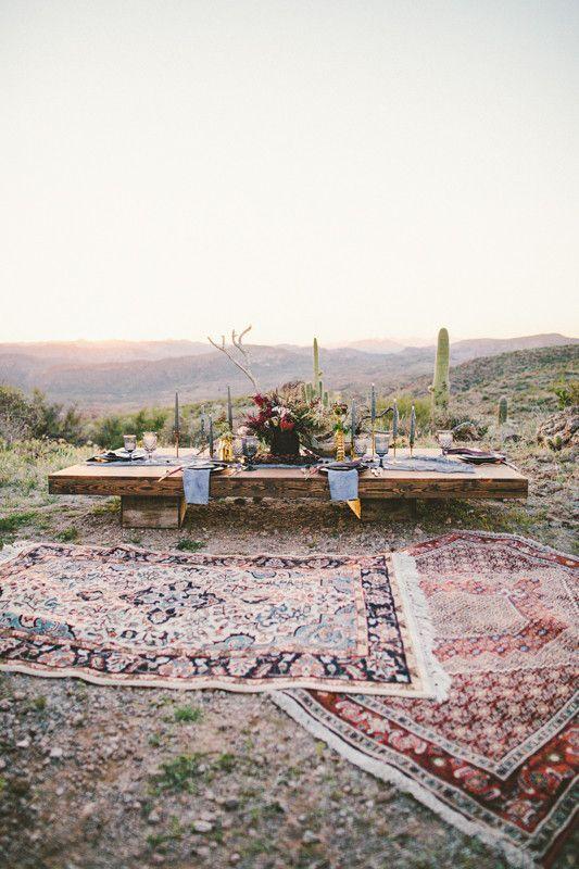 Bohemian Arizona Desert Wedding Inspiration 100 Layer