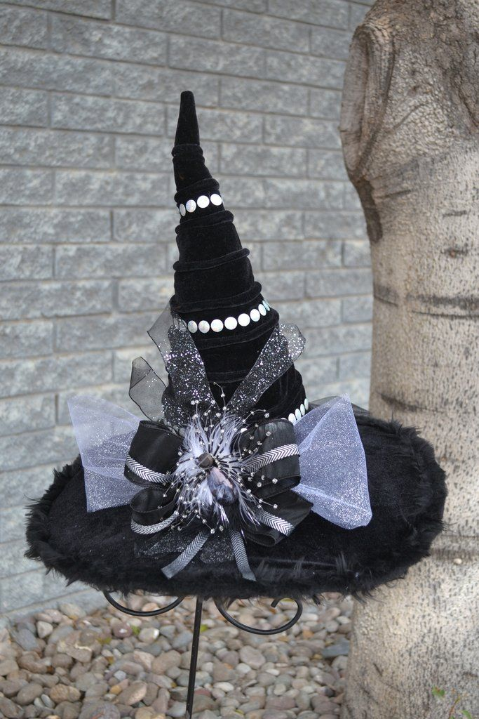 Silver Stud Witch Hat Halloween Hats Fall Halloween Decor