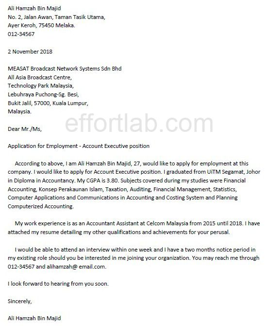 contoh application letter untuk fresh graduate online writing lab - google cover letters