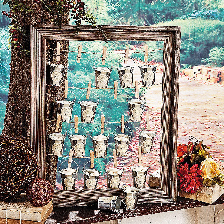Rustic Wedding Favor Frame An open-back frame becomes a versatile ...