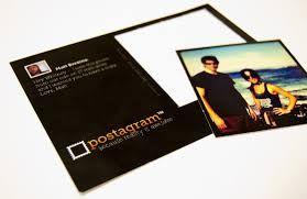 campione gratuito di una cartolina fotografica offerta da postagram