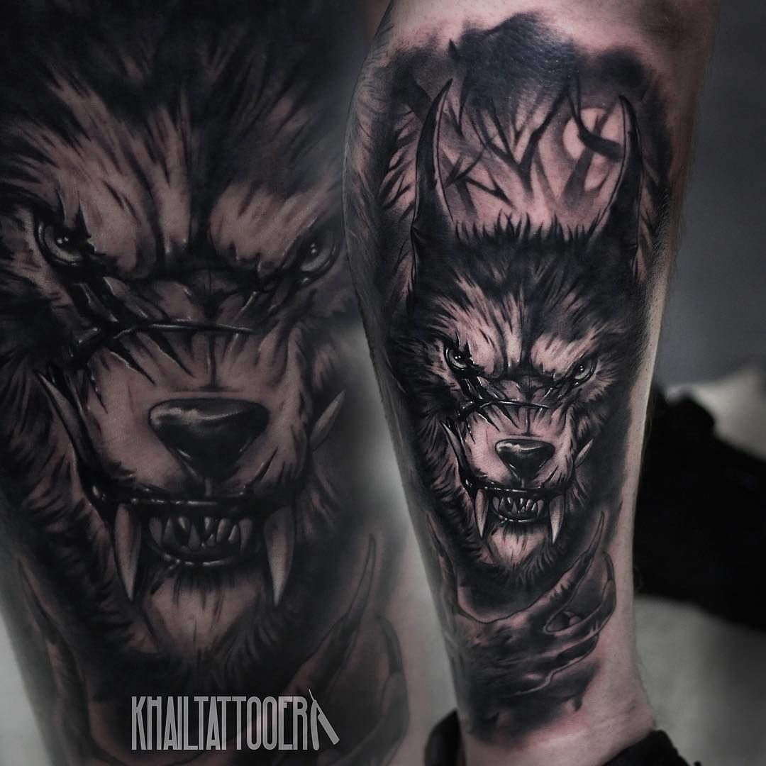 f261493c1 black snake head tattoo angry wolf tattoo | Tattoo | Wolf tattoos ...