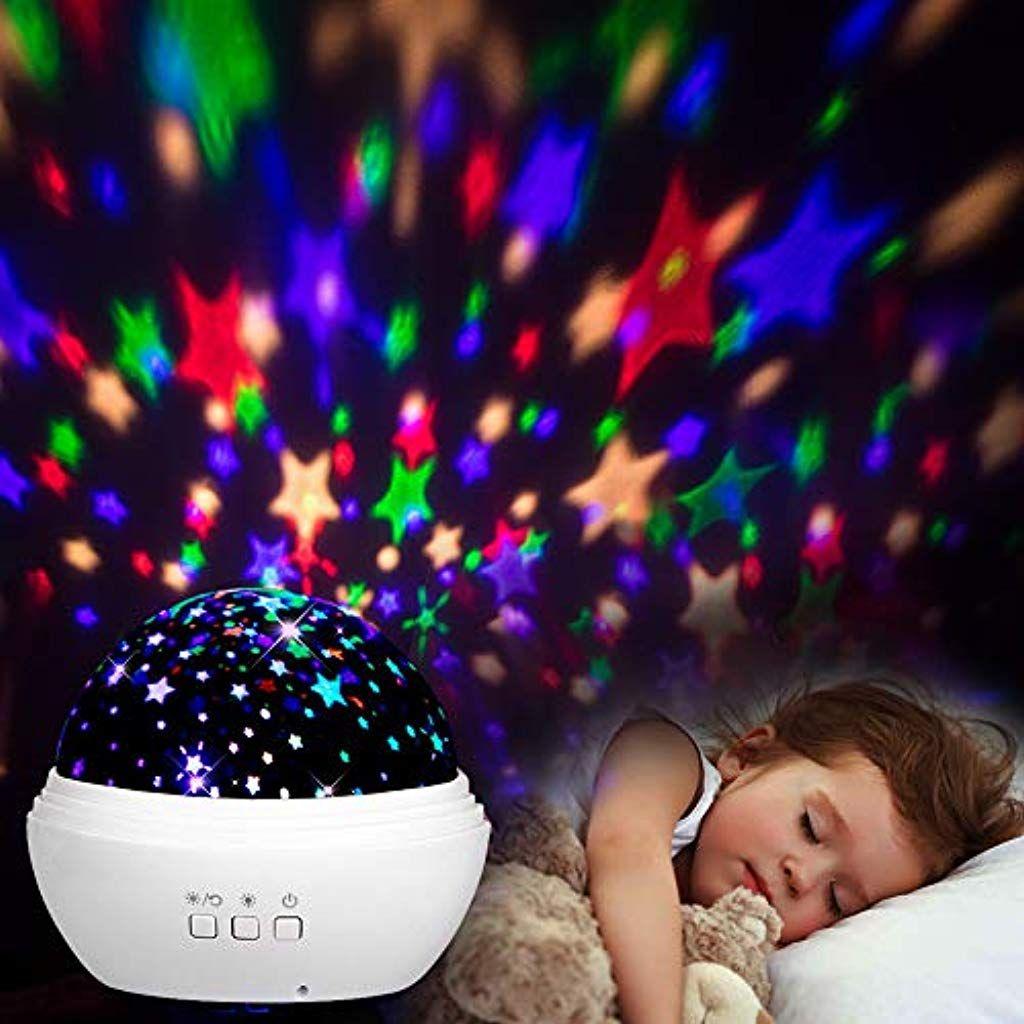 Sternenhimmel Projektor Mixigoo Led Projektor Lampe 360rotierend Baby Nachtlicht Mit 8 Farben Bele Sternenhimmel Projektor Led Projektor Beleuchtung Wohnzimmer