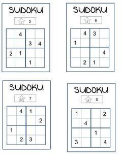 SUDOKU 3 niveaux (avec images) | Mathématiques, Mathématiques ce2, Activités mathématiques