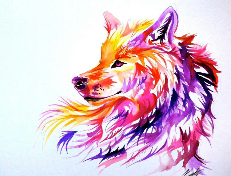 Wolf Painting | Animals that I love | Pinterest | Wolf ...