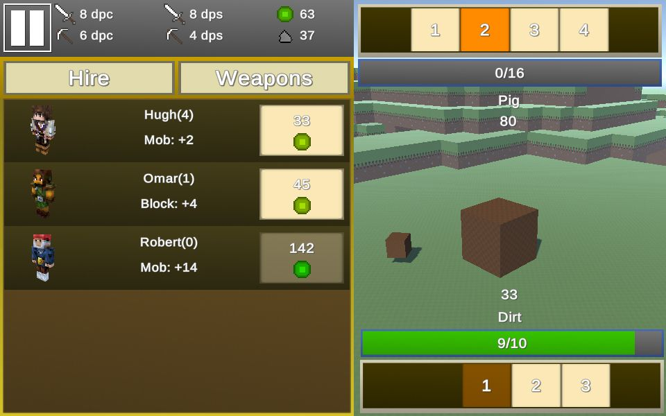 Play Free Mine Clicker Game Online On Brightestgames Com Clicker Games Fun Minecraft Games Online Games