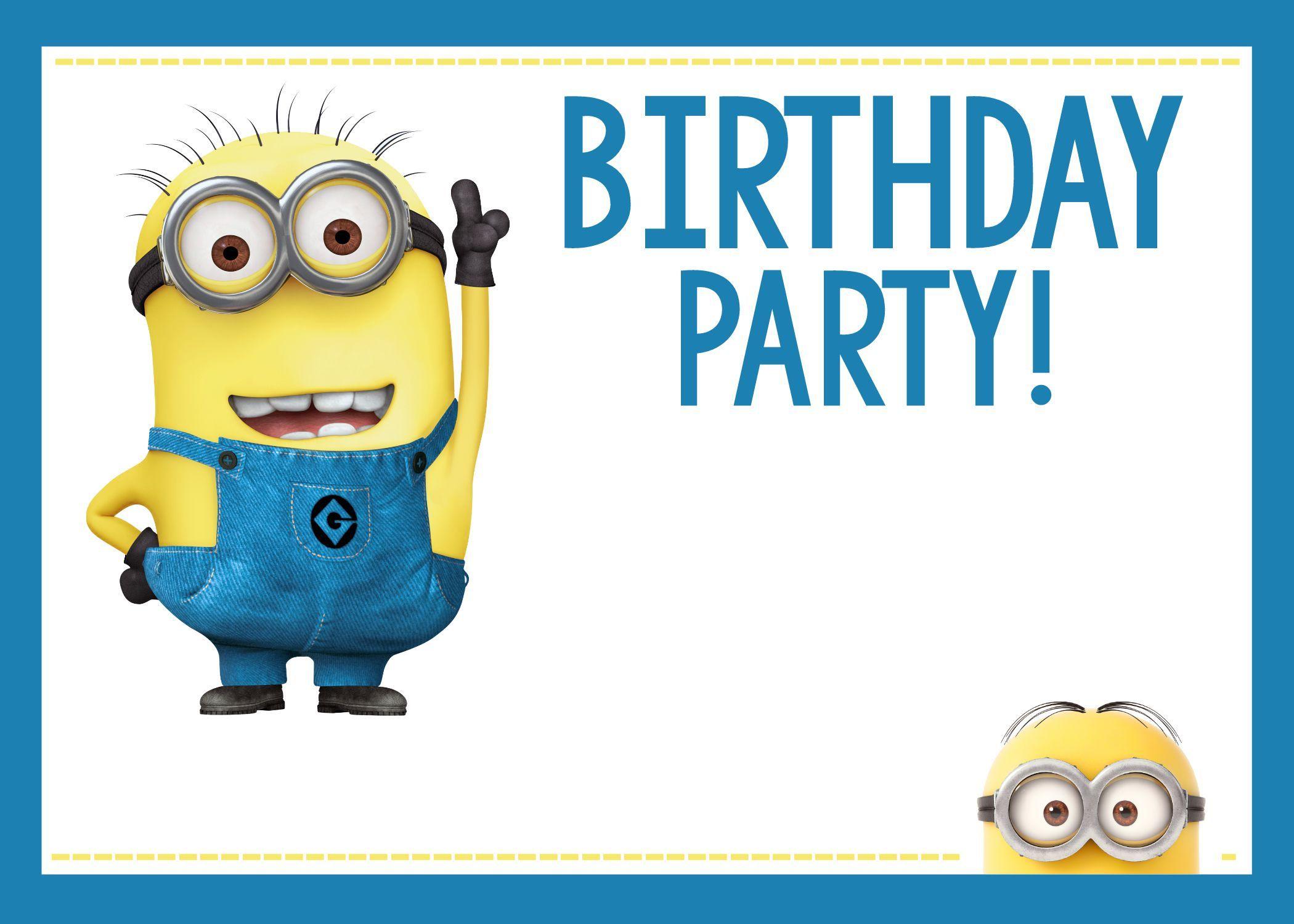 Minions Geburtstagseinladung Zum Ausdrucken Kostenlos