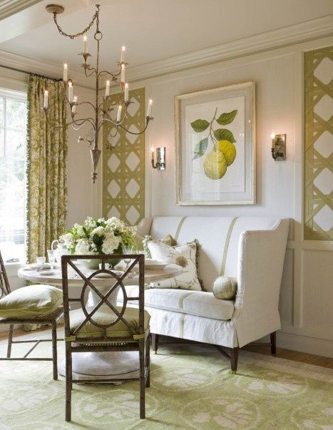 Victoria Neale.  [Blog] 14 Happy Spring Interiors with Green Rugs and Lively Color