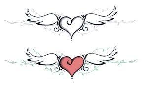 Resultado De Imagen Para Alitas Angel Grecas Tatuaje Corazon Con Alas Corazon Con Alas Alas Tatuaje