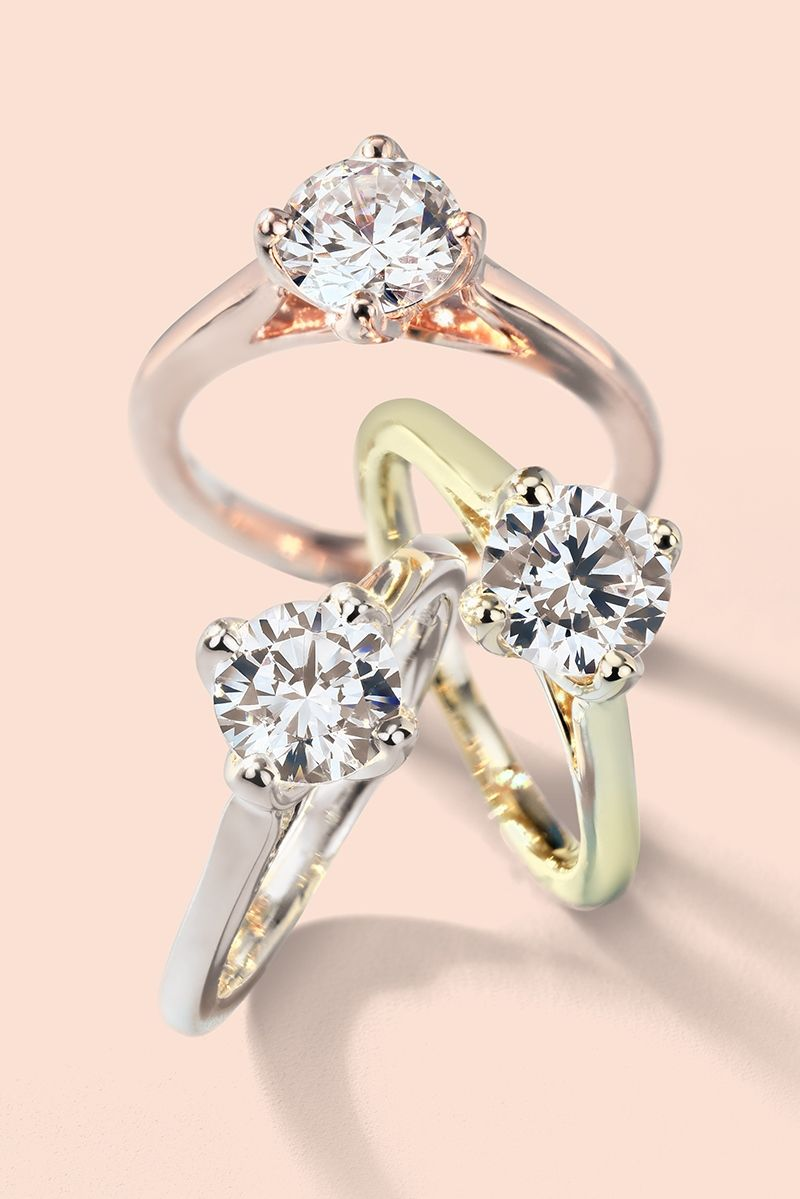 Build Your Own Ring Setting Details 14k Rose Gold Engagement Rings Solitaire Engagement Ring Engagement Rings
