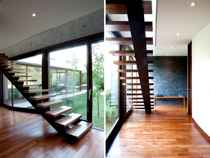 Modern and Dynamic Chilean House dynamic chilean house staircase