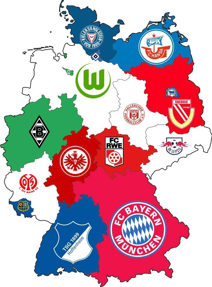 Germany: Highest ranked Clubs by State