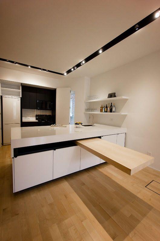 Diseños de modernas cocinas con islas que parecen flotar, inspírate ...