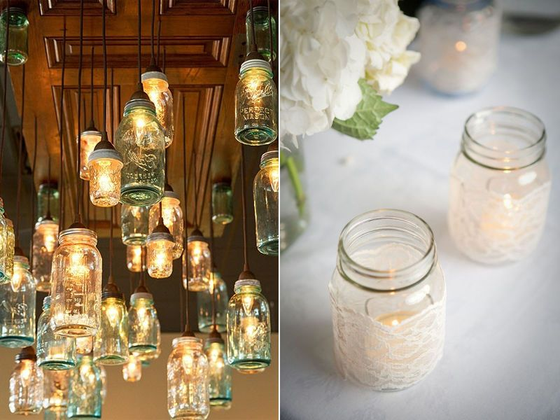 wedding table themes using mason jars mason jar wedding ideas simply peachy wedding blog