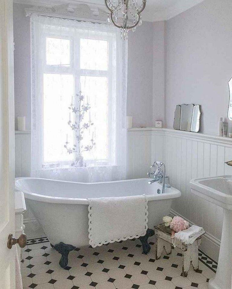 90 Amazing Vintage Farmhouse Bathroom Remodel Ideas
