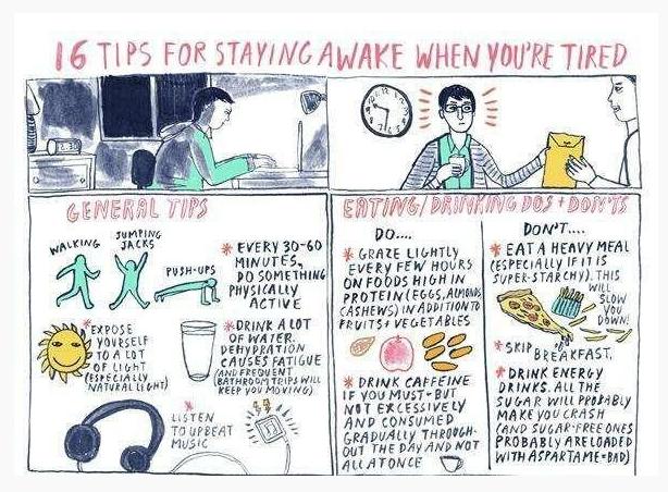 ways to stay awake at work