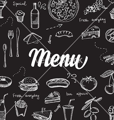 Restaurant Cafe Menu Template Design Vector Chalkboard By Marchie On VectorStockR