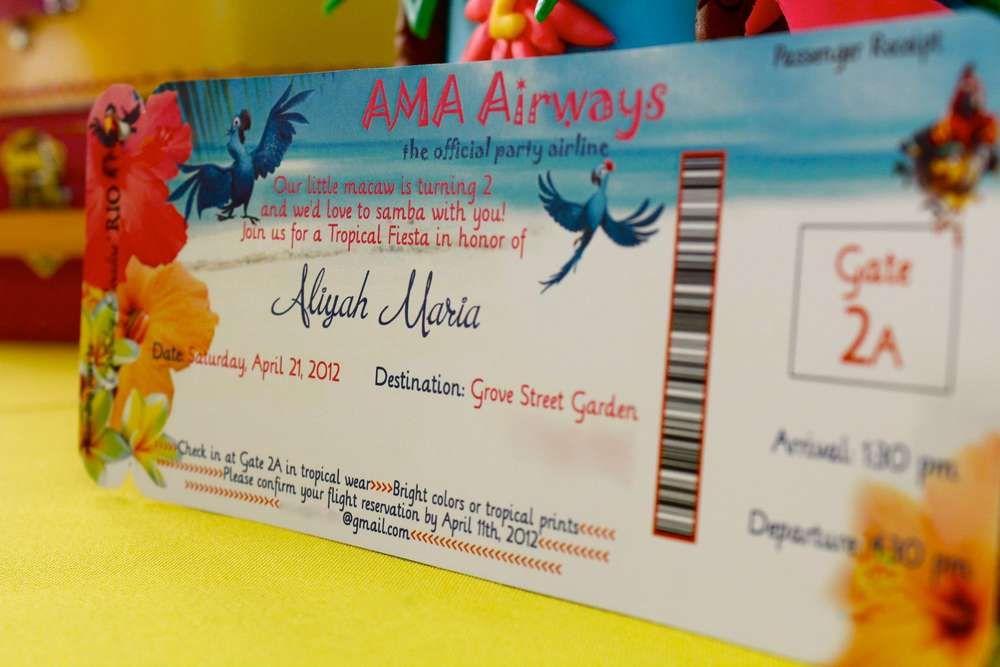 "Aliyah's ""RIO"" 2nd Birthday  | CatchMyParty.com"