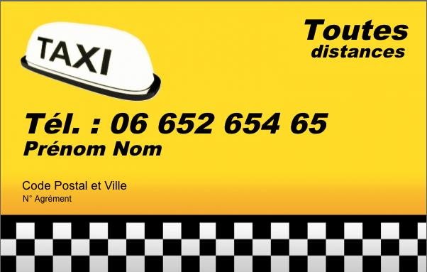 Carte De Visite Taxi Creez Gratuitement A Partir Modele En Ligne Votre