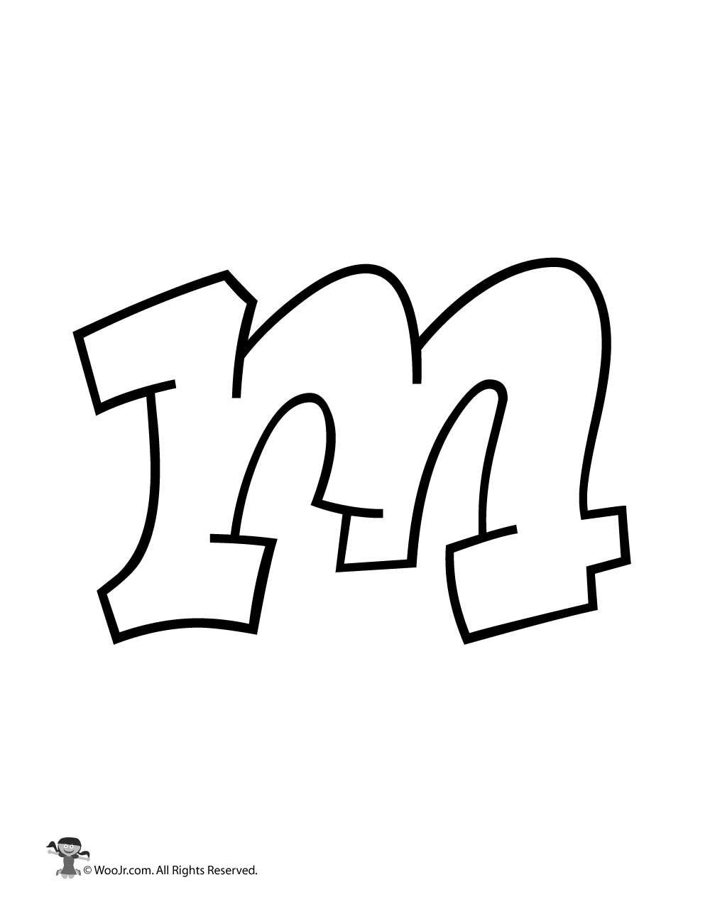 Graffiti Lowercase Letter M In 2020 Graffiti Lettering Graffiti