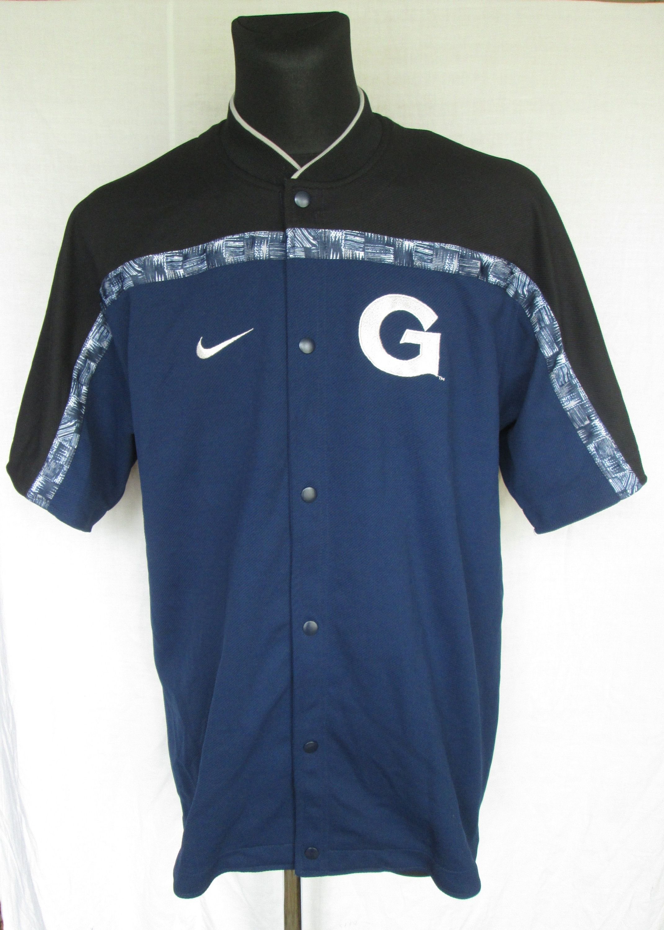 529797cb2 Vintage 90s Nike Team Sports Georgetown HOYAS NCAA Basketball Warm Up Shirt  Jacket Size L Made in Indonesia Used Worldwide Shipping #Georgetown  #basketball ...
