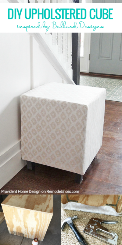 Add Seating And Comfort With An Easy Multipurpose Diy Upholstered Cube Ottoman Or Stool You Can Make You Diy Furniture Chair Diy Storage Ottoman Diy Furniture