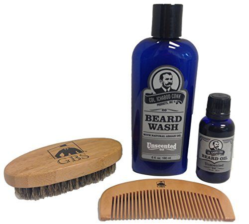 Colonel Conk Natural Unscented Beard Wash and Beard Oil