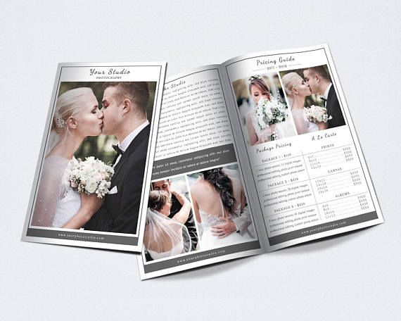 Photography Bifold Brochure Template For Photoshop 002 Brochures