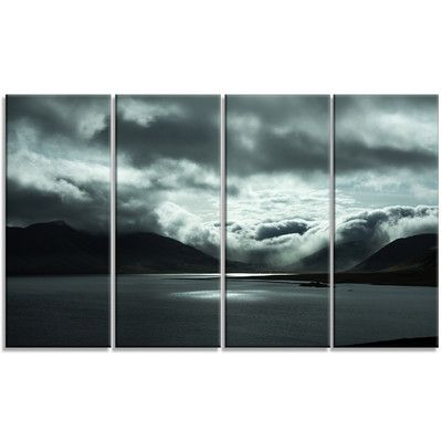 DesignArt 'Stormy Iceland in the Summer' 4 Piece Graphic Art on Wrapped Canvas Set