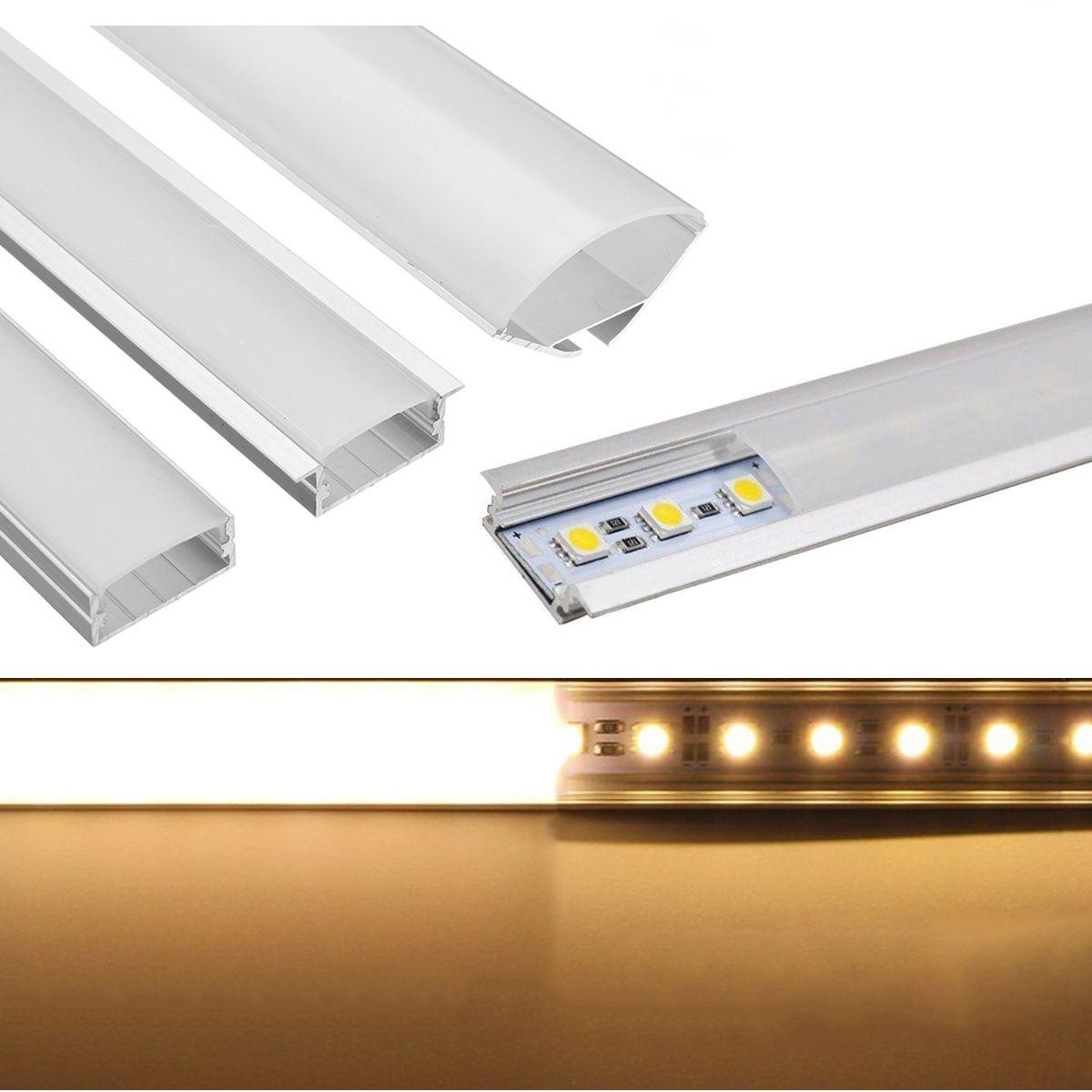 50cm U Yw V Shape Aluminum Channel Holder For Bar Under Cabinet Led Rigid Strip Light Lamp Lamp Light Under Cabinet Strip Lighting
