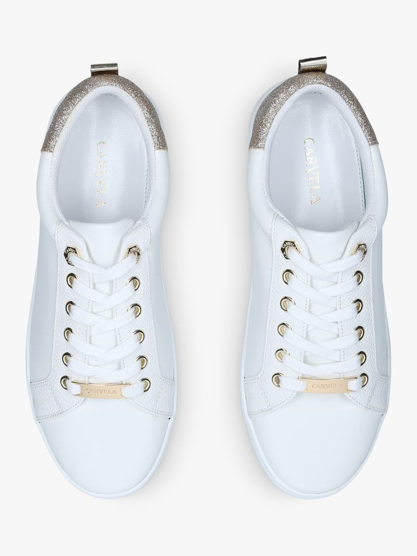 Carvela jupiter lace up trainers gold lace up trainers