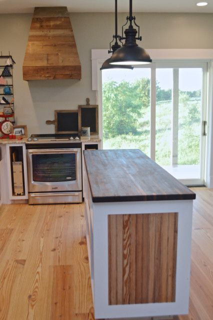 Check out these DIY walnut butcher block kitchen countertops from Lumber Liquidators - perfect for any type of cabinets. These are finished with tung oil ... & A butcher block countertop for the island | Pinterest | Walnut ...