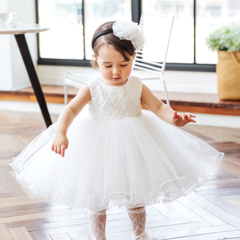 Only $64.99, Flower Girl Dresses Super Cute White Girls Wedding Dress  Toddler Pageant Gown For