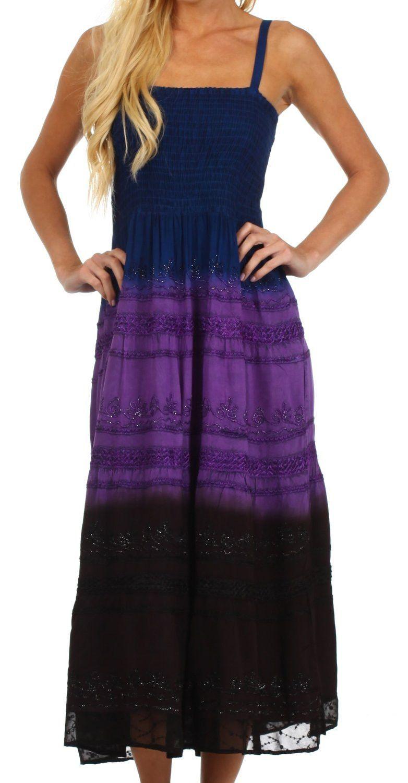 Sakkas Adelina Embroidered Rayon Dress