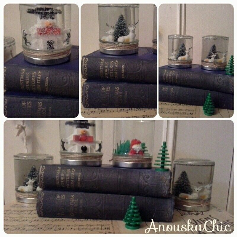 Snow globes, reindeer and lego