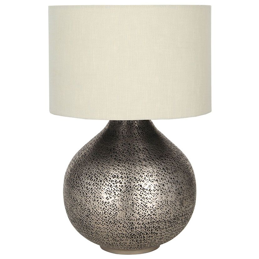 Hammered Table Lamp Base Only