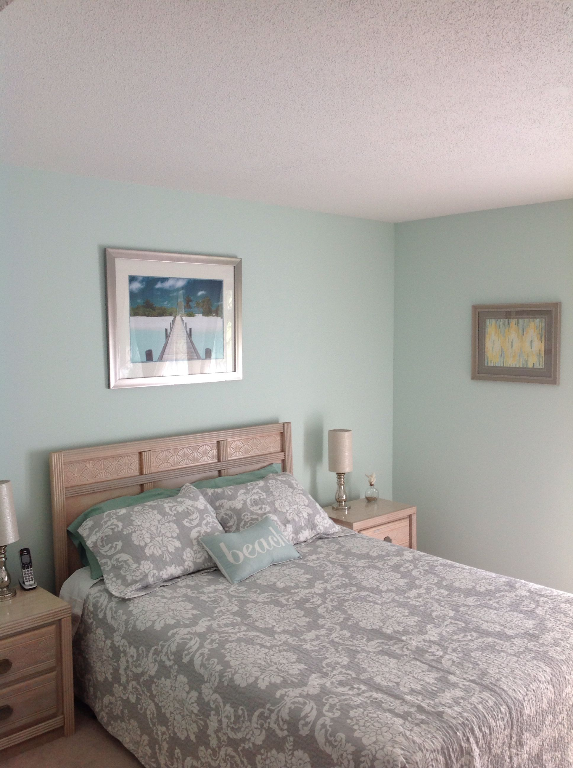 Finished Bedroom: Behr Water Mark paint from Home Depot... Beautiful ...