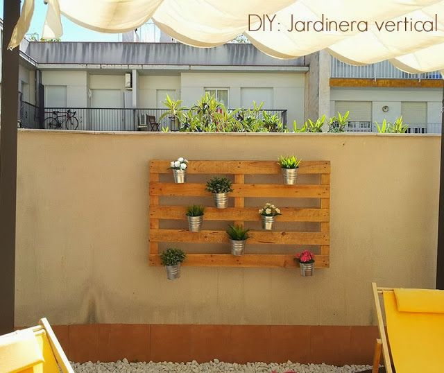 diy jardinera vertical con un palet xduros