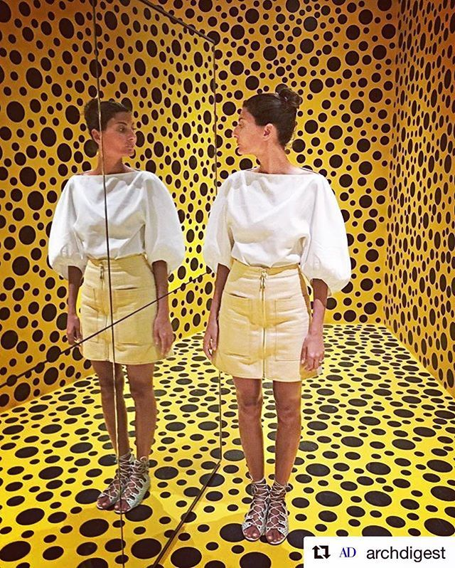 #Repost @archdigest ・・・ If you go to Stockholm and have an afternoon free, visiting the Museum of Modern Art is a must. The permanent collection is amazing and Yayoi Kusama's exhibit is on view until September 11. —@bat_gio