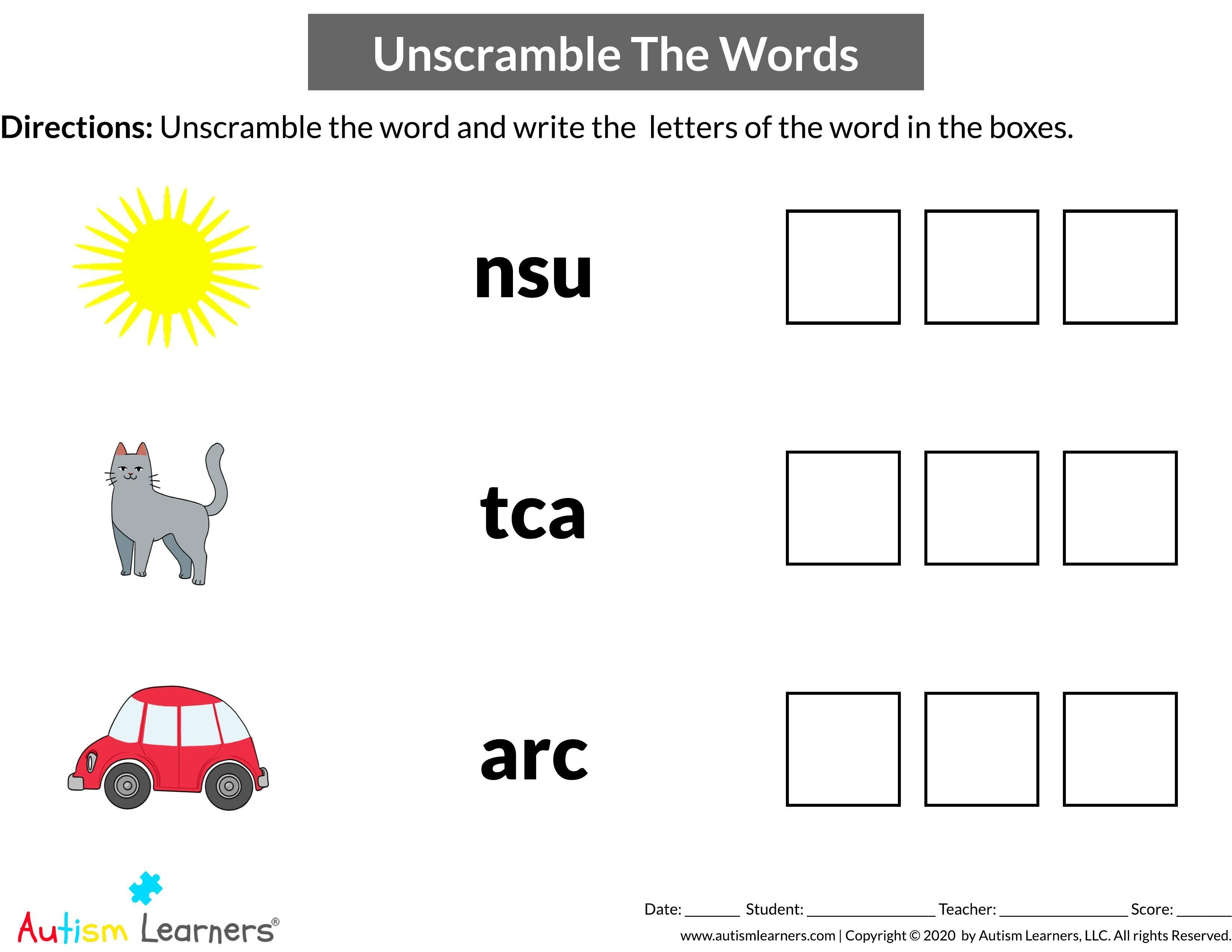 Unscramble Word