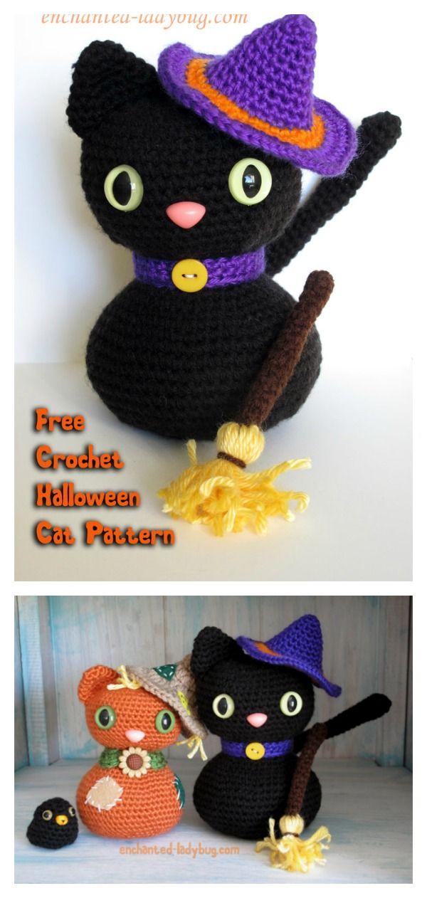 Amigurumi Halloween Black Cat Free Crochet Pattern | Tejido