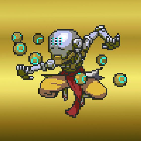 Zenyatta Pixel Spray Button