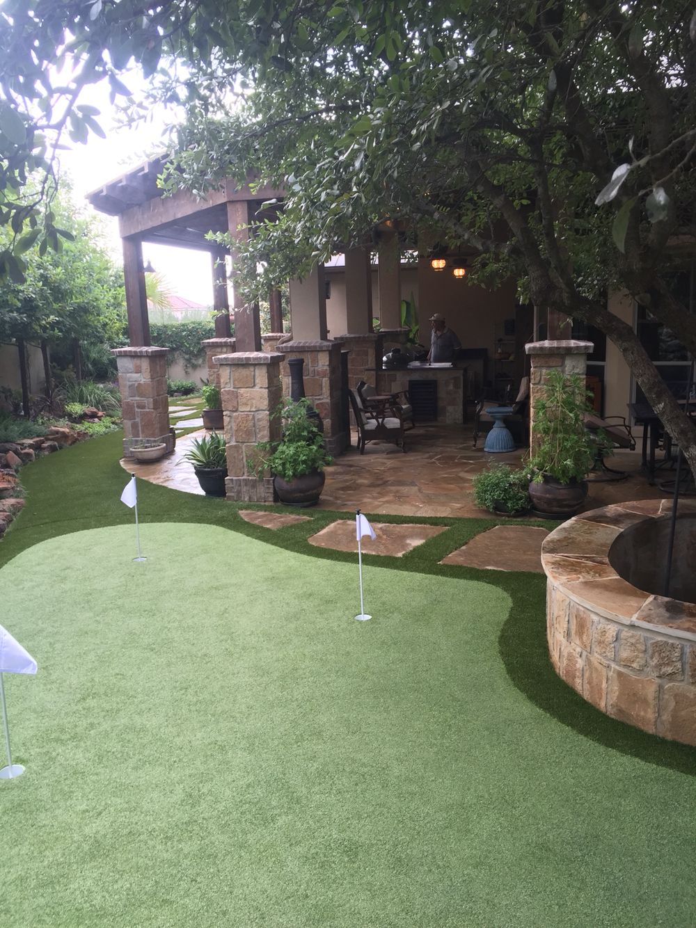 less maintenance more fun artificial putting green and