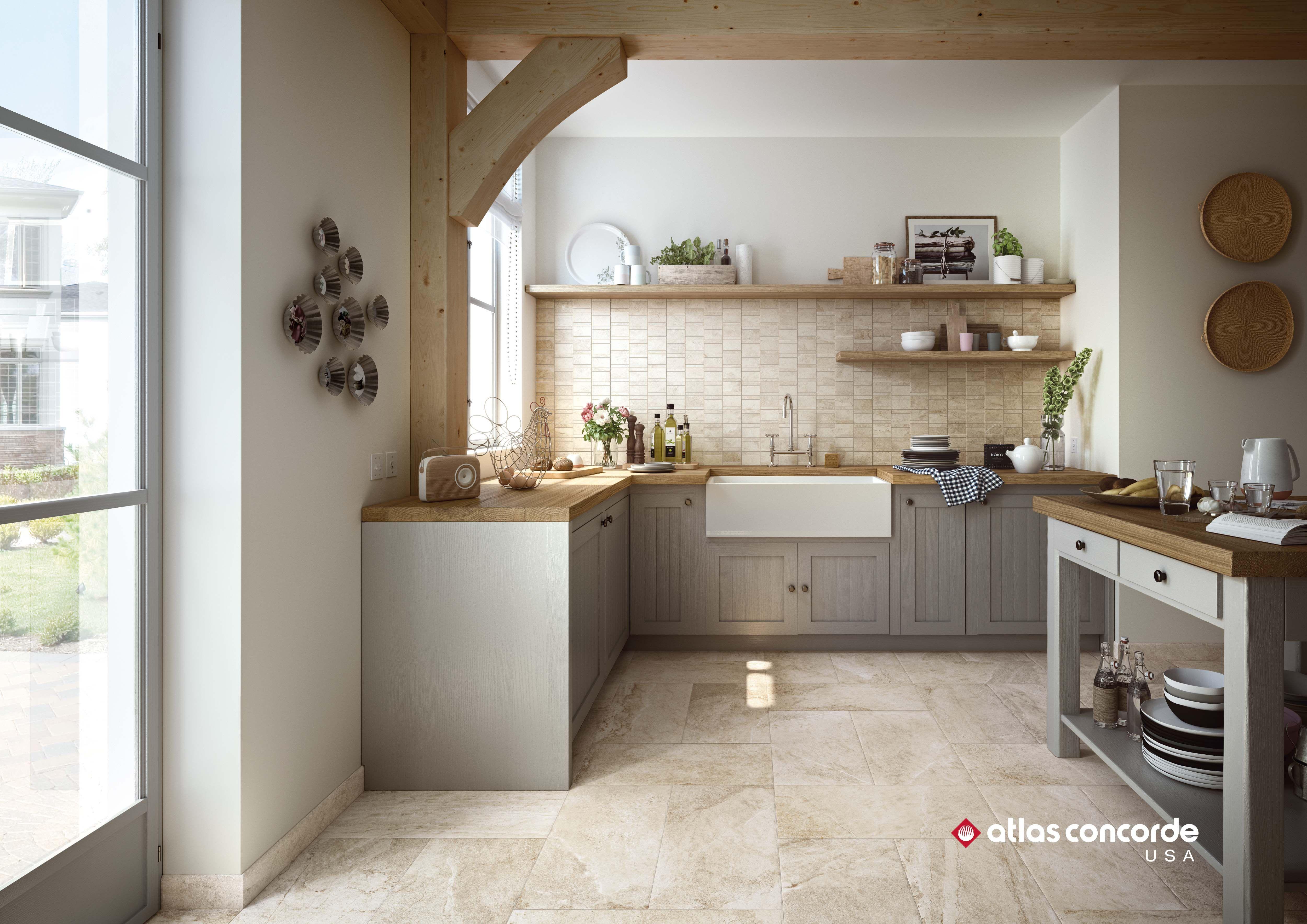 Ridge Kitchen Inspirations Stone Look Tile Kitchen Flooring