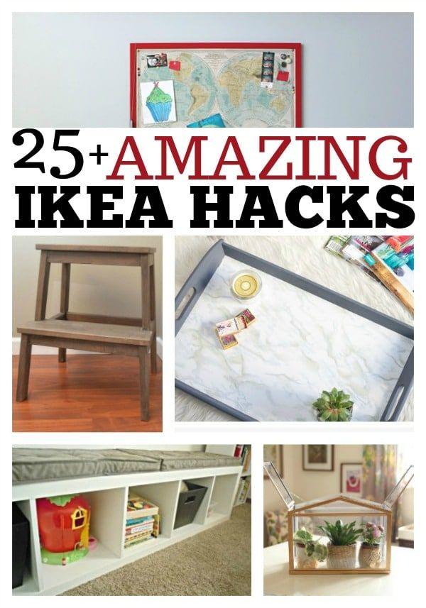 IKEA Hacks - Easy DIY Ideas To Transform And Organize Your Home #diy