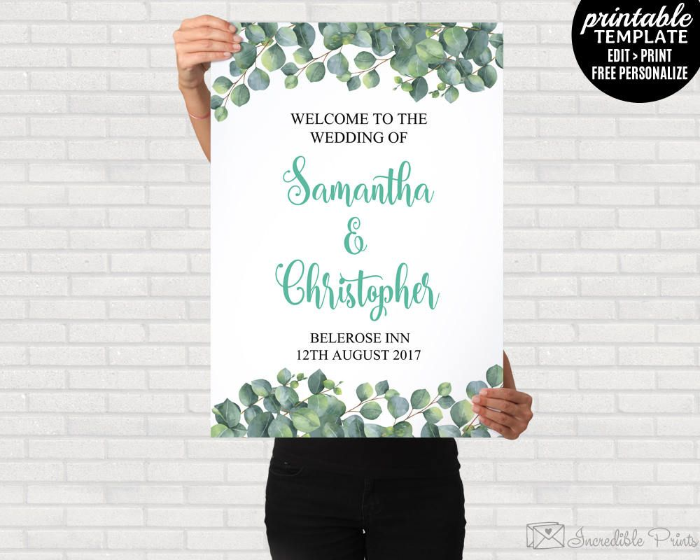 welcome poster template