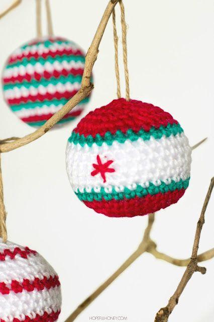 Crocheted Christmas Baubles Pattern Pinterest Crochet