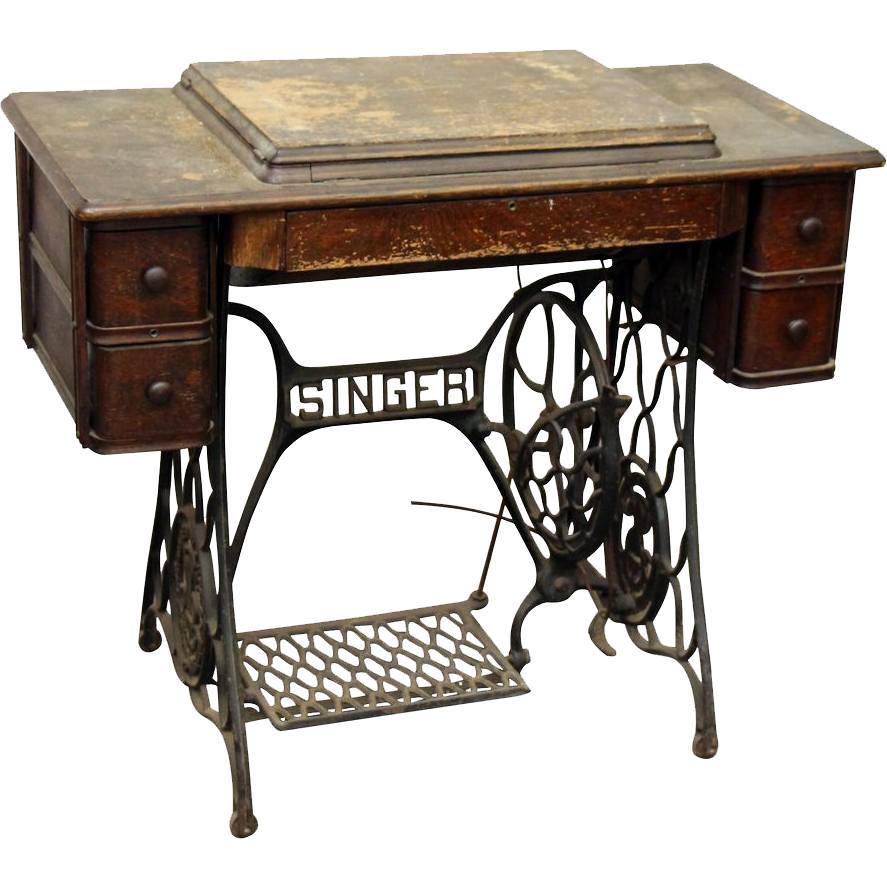 rubylanecom singer sewing machine table duo perfect for a vintage diy project vintage. Black Bedroom Furniture Sets. Home Design Ideas