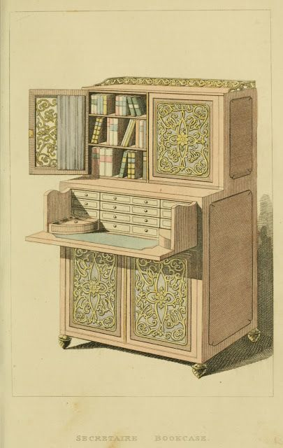 EKDuncan   My Fanciful Muse: Regency Furniture 1809  1815: Ackermannu0027s  Repository Series 1